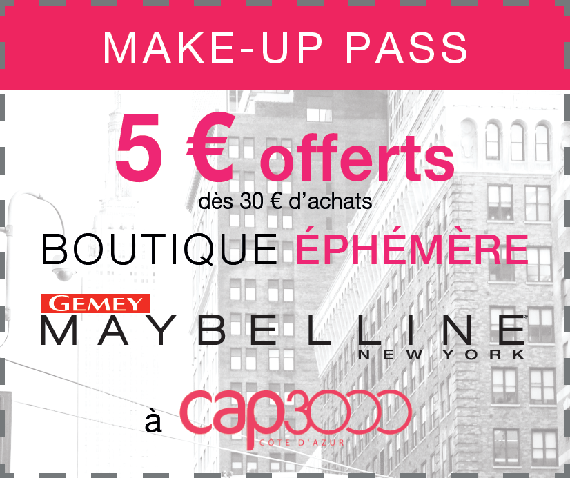 boutique éphémère Gemey-Maybelline
